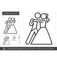 wedding dance line icon vector image vector image