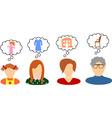 women dreams vector image