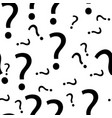 seamless question mark pattern vector image
