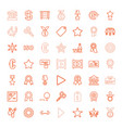 49 badge icons vector image vector image