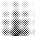 Abstract black and white rounded square pattern vector image vector image