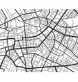 abstract city navigation map with lines and vector image vector image