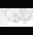 abstract spheres background vector image vector image