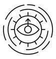 alchemy sun eye icon outline style vector image vector image