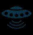 alien invasion composition icon of halftone vector image vector image