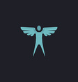angel computer symbol vector image