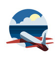 around the world travelling by plane airplane vector image vector image
