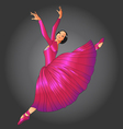 ballet dancer vector image