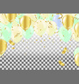 balloons isolated celebration party banner vector image