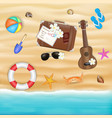 beach travel object on a sea sand beach vector image vector image