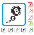 bitcoin inflation framed icon vector image vector image
