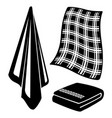 black and white towels vector image vector image