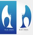 blue angel - logo concept vector image vector image