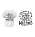 bobcat or lynx mascot t-shirt print sport club vector image vector image