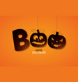 boo happy halloween design with typography vector image vector image