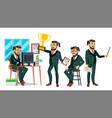 boss character bearded environment vector image
