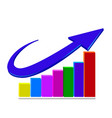 business statistics arrow logo vector image