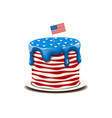cake in the colors of the american flag vector image