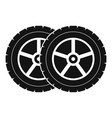 car tyre icon simple style vector image vector image