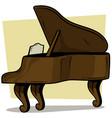 cartoon wooden brown grand piano icon vector image vector image