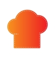 Chef cap sign Orange applique isolated vector image vector image