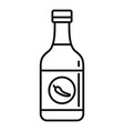chili sauce bottle icon outline style vector image vector image