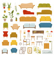 collection furniture vector image