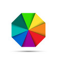 color octagonal palette vector image vector image