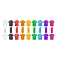 Color T-shirts Front View Set Isolated vector image