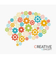 creative new idea concept of human brain vector image