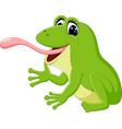 cute frog cartoon vector image vector image
