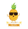 cute pineapple character vector image