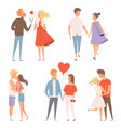 dating couples st valentine day 14 february vector image vector image