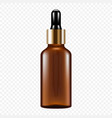 dropper in glass bottle icon realistic style vector image