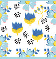 exotic floral background abstract memphis vector image vector image