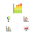 flat icon chart set of chart graph pie bar and vector image vector image