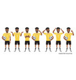 football character black african american soccer vector image vector image
