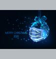 futuristic pandemic christmas web banner vector image vector image