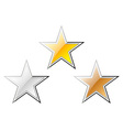 gold silver and bronze stars vector image