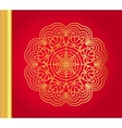 Golden snowflake on red background vector image vector image