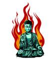 hand drawn buddha isolated vector image