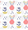 hand drawn seamless pattern with plants vector image vector image