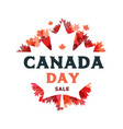 happy canada day sale poster 1st july vector image vector image