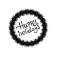 Happy holidays hand lettering vector image vector image