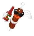 Kebab man loves tomato ketchup vector image