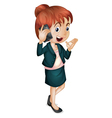 Lady talking on phone vector image
