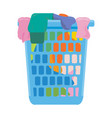 laundry basket vector image vector image