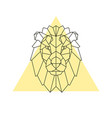 lion head geometric style vector image vector image