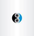 logo 3 three number symbol icon blue black vector image
