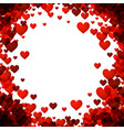 love valentines background with hearts vector image vector image